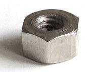 "Sechskantmutter d6.5mm x 24G/"" SW 11x6mm Stahl vernickelt"