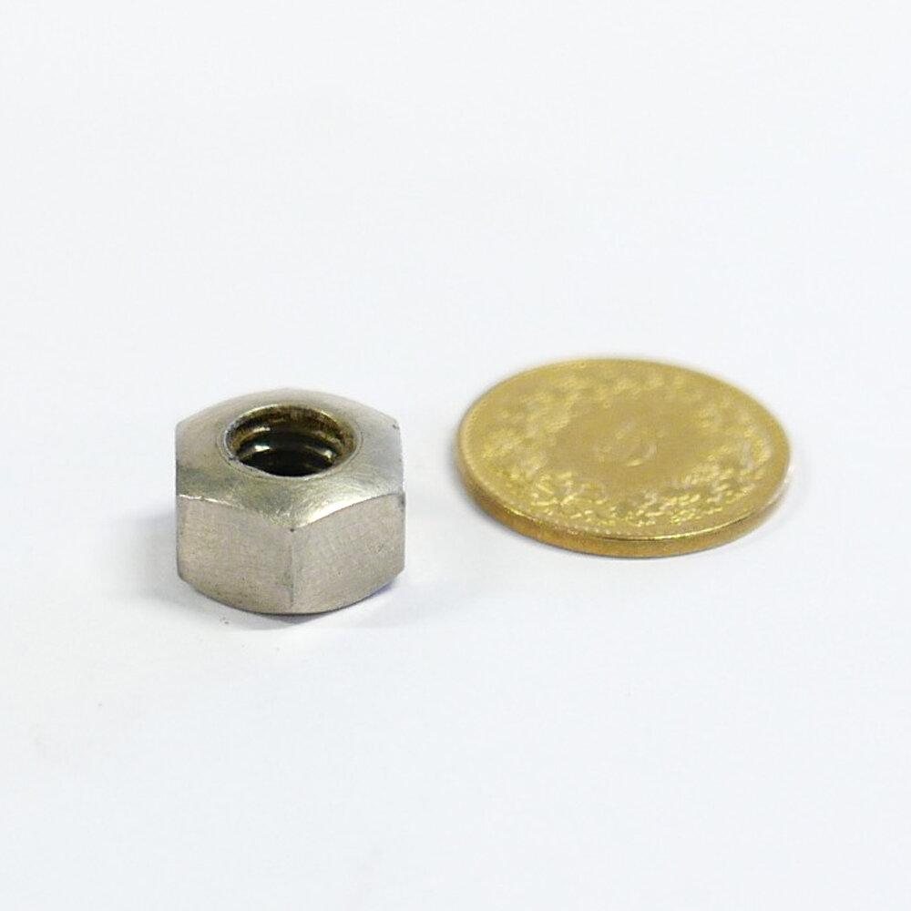 "Sechskantmutter d6.5mm x 24G/"" SW 11x5mm Stahl vernickelt"