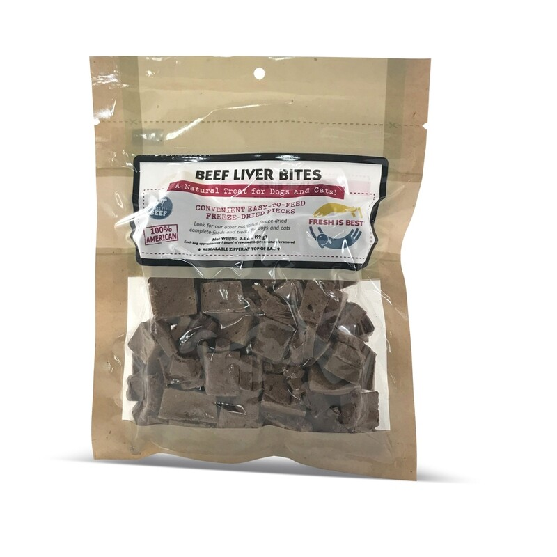 Freeze-Dried Beef Liver Bites