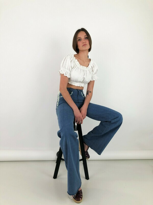 Vintage 70's Flared Reworked Jeans