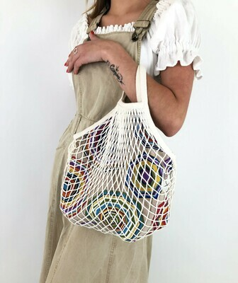 Tote Netted Lined Bag, Slouchy Bag