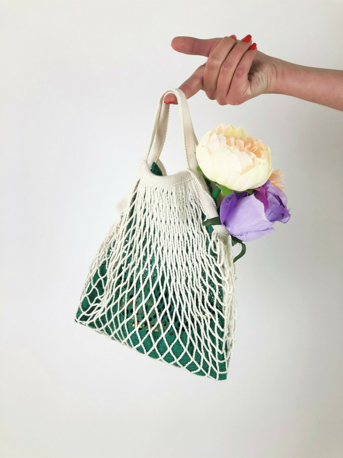 MARIELLA - Tote Netted Lined Bag, Slouchy Little Bag