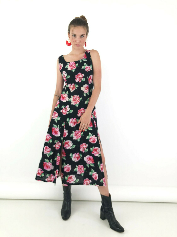 90's Floral Long Dress