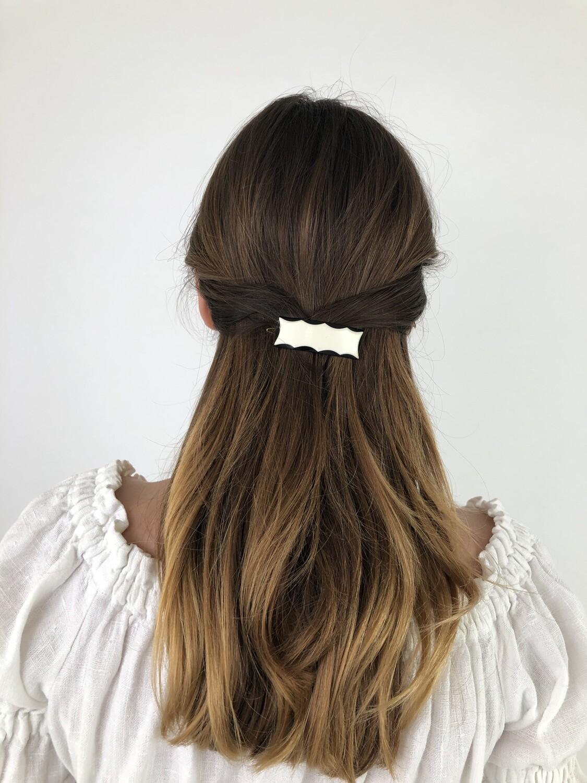 Vintage 60's Hair Barrettes Mod Hair Clip