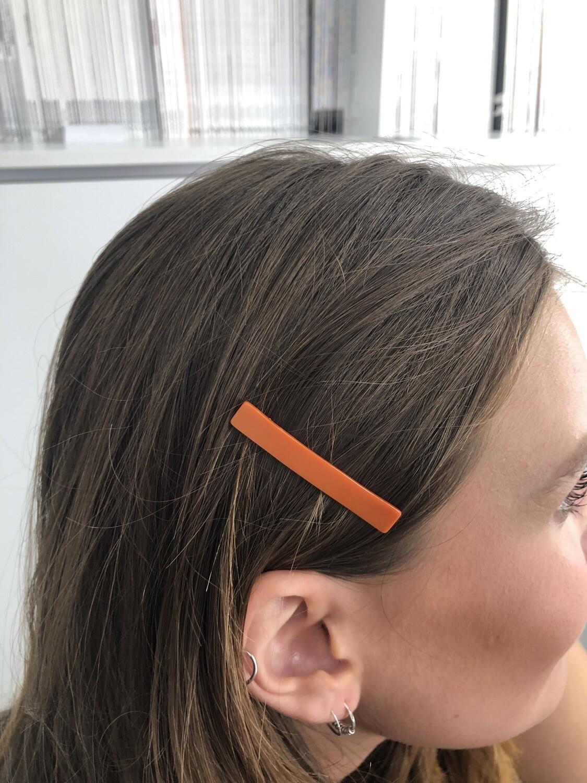 Vintage 60's Mini Hair Barrettes Hair Clip in Orange