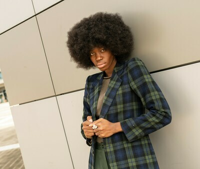 Vintage 70's Tartan Blazer in Wool
