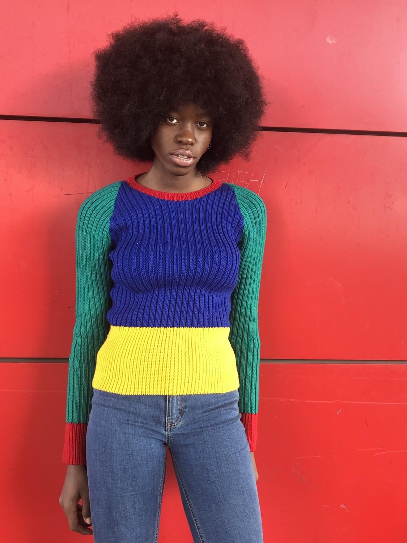 Vintage 70's Striped Sweater