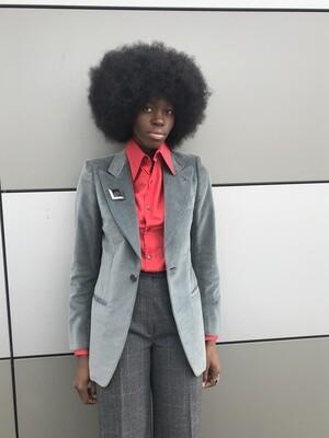 Tailored Velvet Structured Blazer