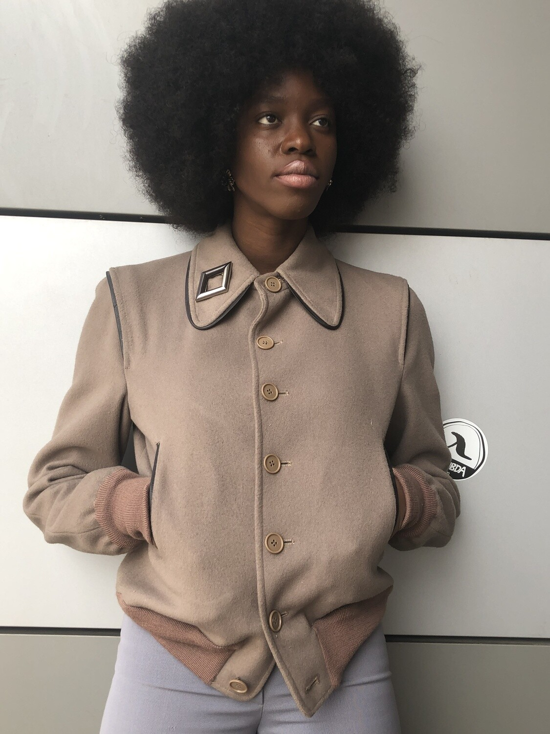 Vintage 70's Wool Bomber tailored Jacket