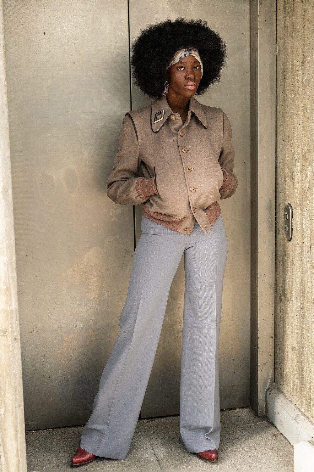 Les Copains Wide Leg Tailored Trousers
