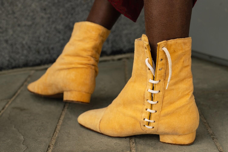 Vintage 60's Suede Lace Up Boots