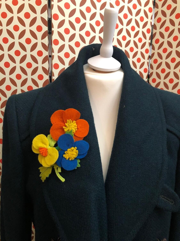Flower Brooch in Wool