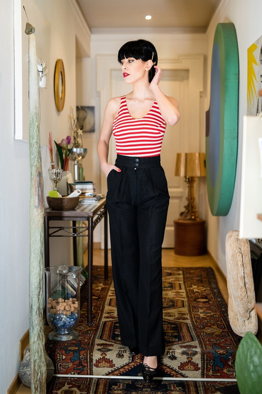 Vintage 1970's High Waist Trousers