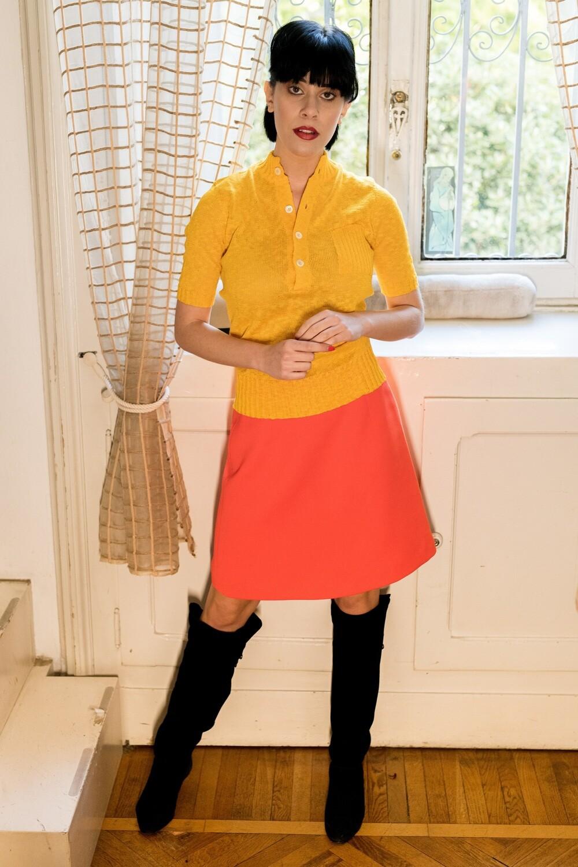 Vintage 1960s A line Mini Skirt Dead Stock