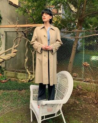 Vintage 1970s Trench Coat Dead Stock