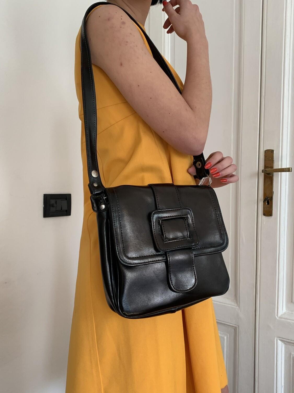 Vintage 1970s Shoulder Leather Bag