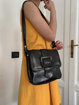 Vintage 1970s Shoulder Leather Bag