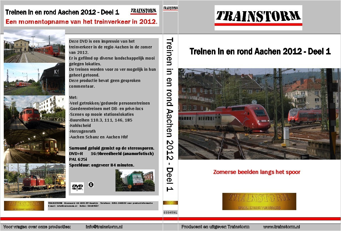 Treinen in en rond Aachen 2012 deel 1