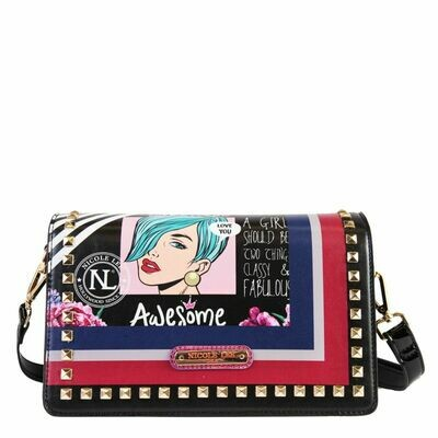 Сумка POP ART STUDDED FLAP CROSSBODY