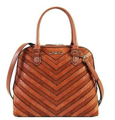 Сумка CHEVRON PATTERN DOMED SATCHEL WITH LONG STRAP