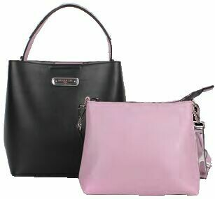 Сумка ZIP15309 2 Pcs Set (1 Shoulder Bag, 1 Crossbody) BLACK