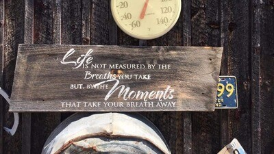 Life is Not Measured by Breaths Sign