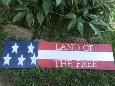 Land of the Free Sign