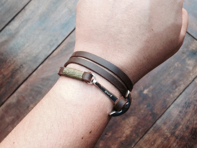 3 wrap anchor bracelet B&G