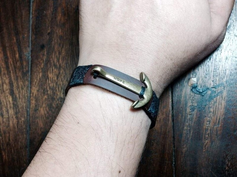 Fisherman bracelet brown