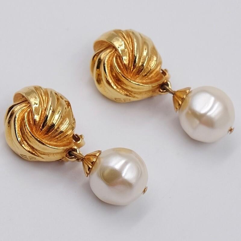 Сережки с жемчужными каплями Sonia Rykiel 1980-е