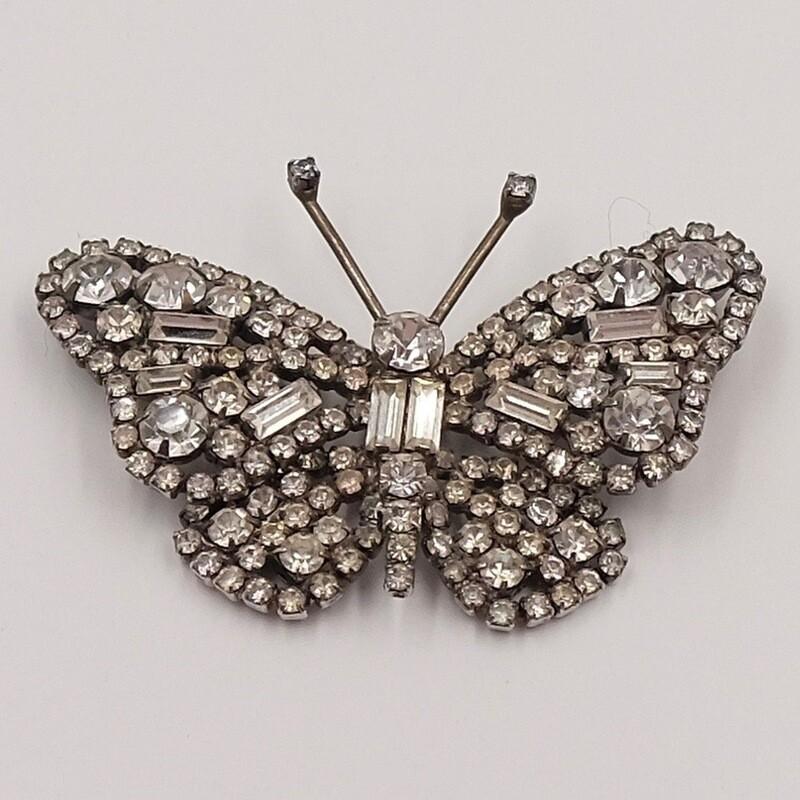 Австрийская винтажная бабочка-брошь 1950-е