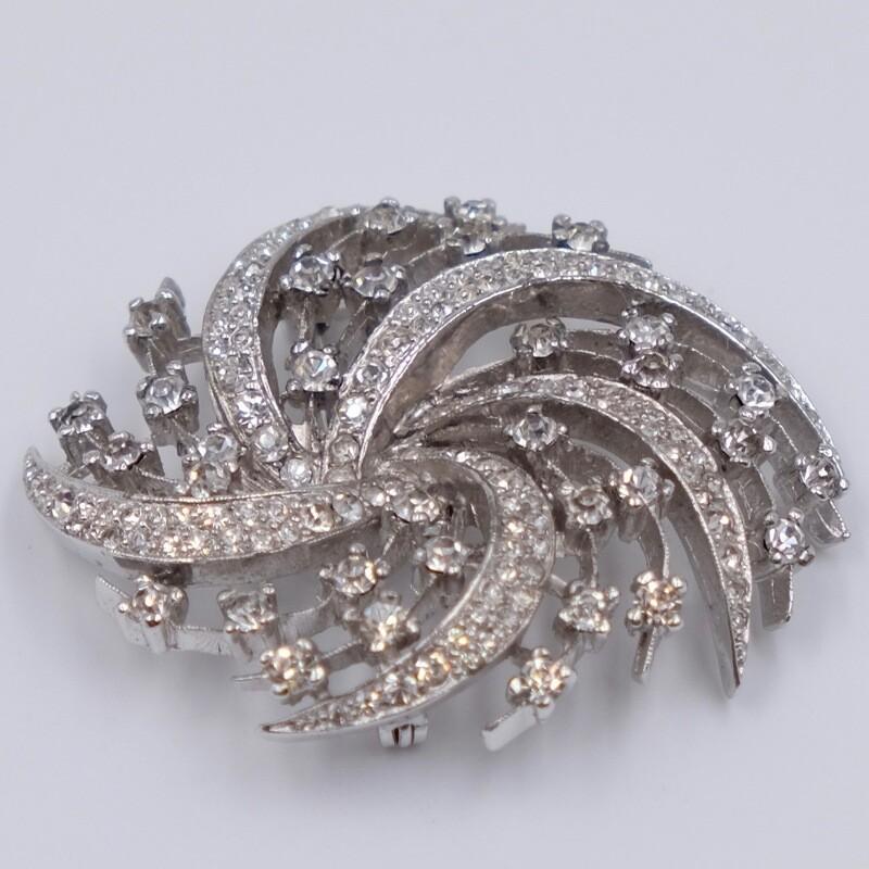 Винтажная брошь с имитацией бриллиантов Panetta 1960-е