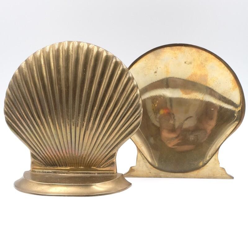 Держатели для книг из бронзы в виде ракушек 1950-е