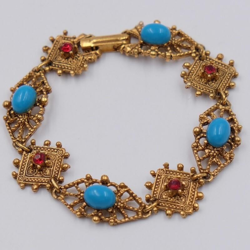 Винтажный браслет Florenza в Викторианском стиле 1970-е