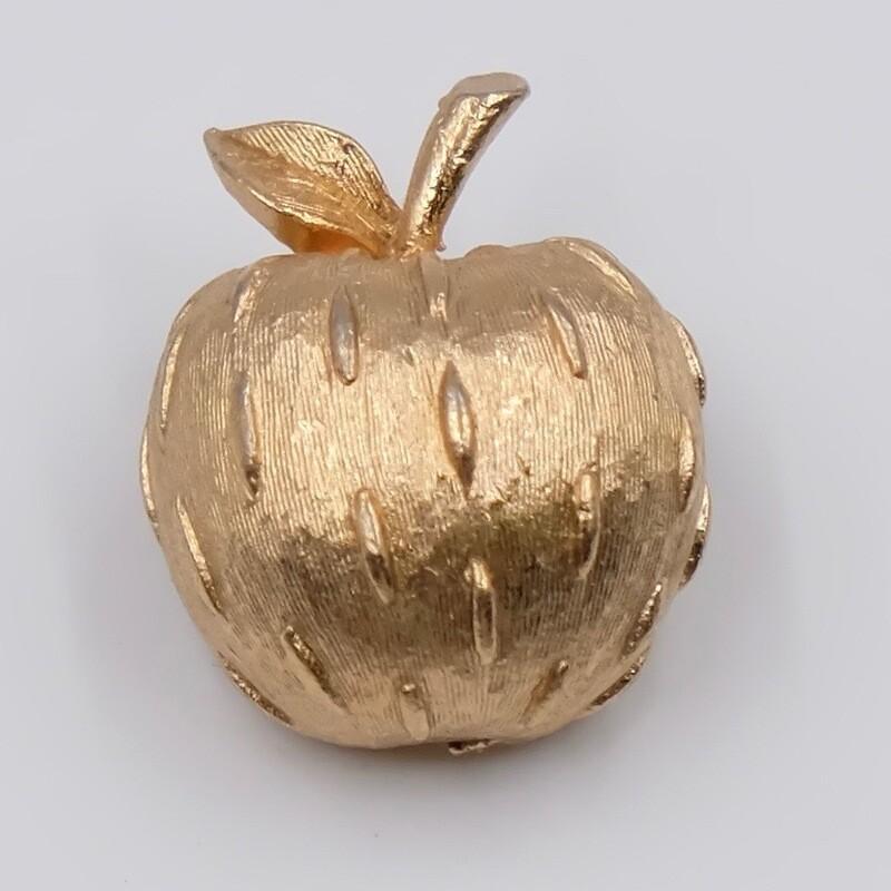Винтажная брошь яблочко 1960х годов Napier