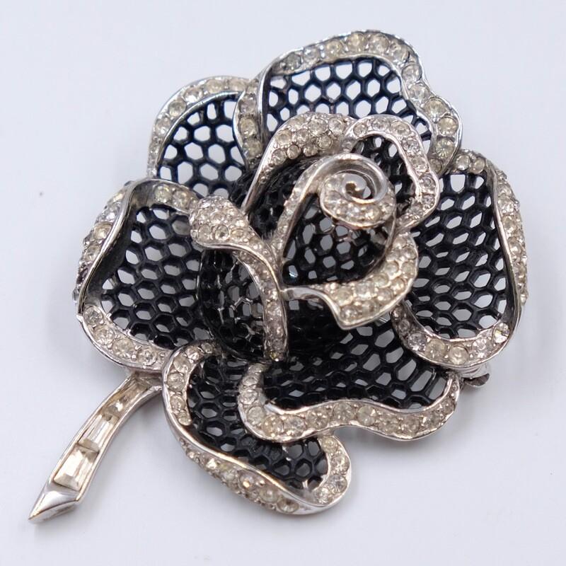 Винтажная брошь Boucher в виде розы 1950е