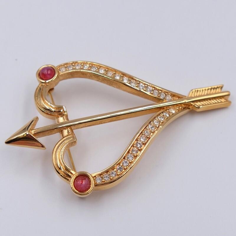 Винтажная брошь стрела Купидона Christian Dior 1980е