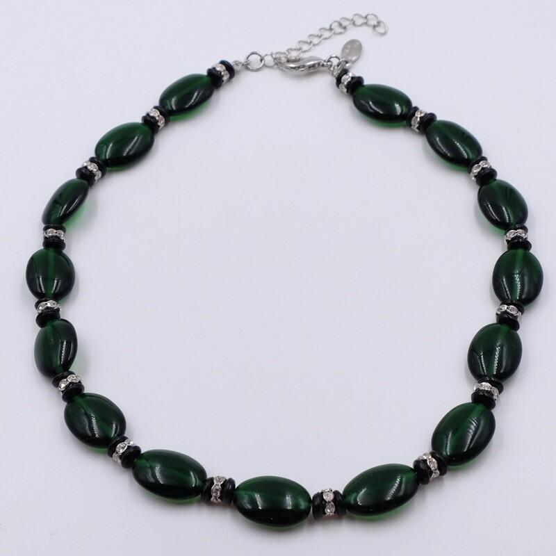 Винтажные бусы из пластика зеленого цвета Kenneth Jay Lane 2000е