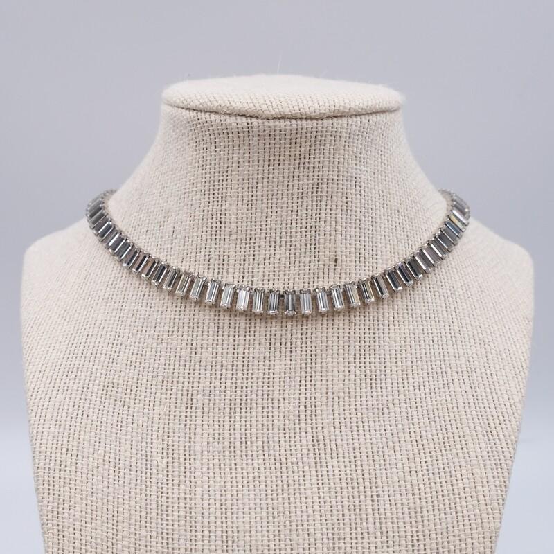 Винтажное колье имитация бриллиантов 1950е
