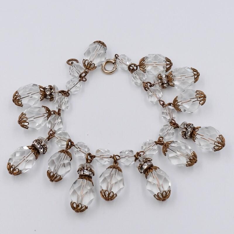 Винтажный браслет из кристаллов 1950е