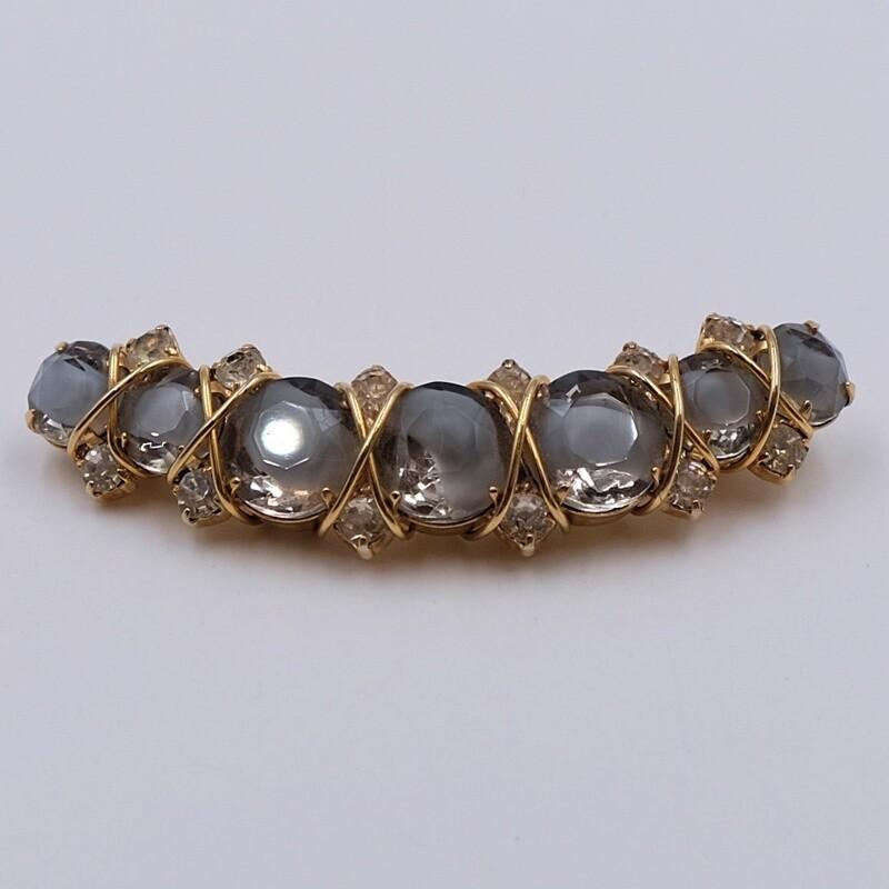 Коллекционная брошь Hattie Carnegie с голубыми кристаллами