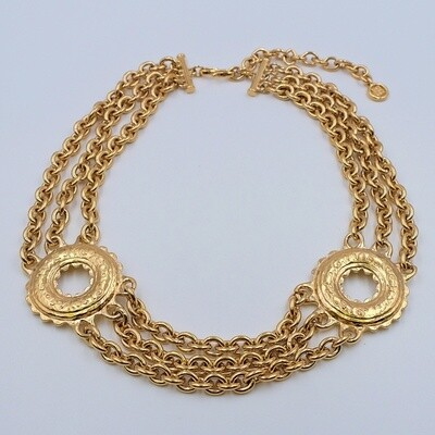 Vintage Givenchy Etruscan Style Massive Necklace