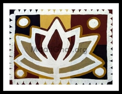 Sohrai Painting - Lotus (15x11 in)