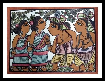 Paitkar Painting - Tribal Dance (30x22 in)