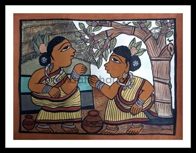 Paitkar Painting - Conversation (30x22 in)