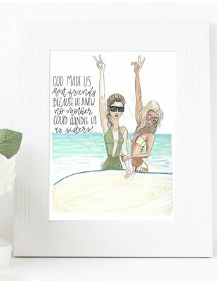 Customizable Best Friend Beach Print