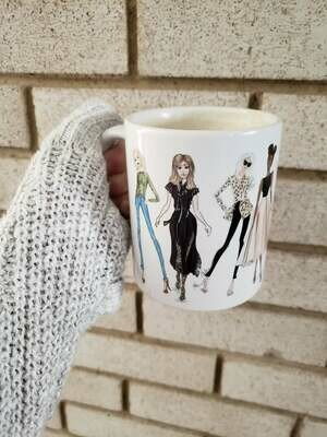 Fashion Girls illustration Coffee Mug 11oz  or 15 oz