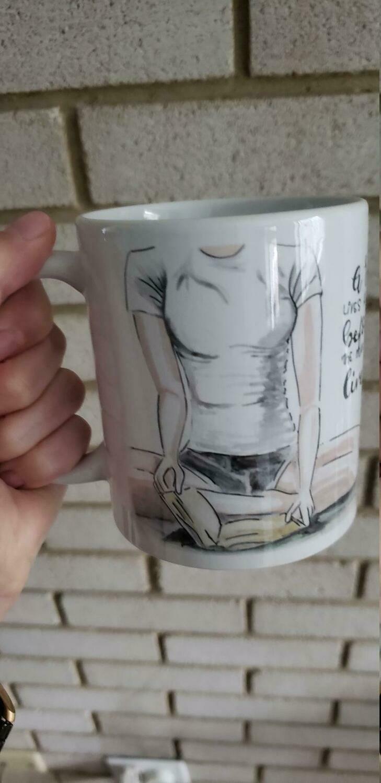 Coffee Mug Reader Book Worm Reading Mug