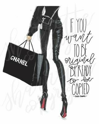Chanel Louboutin Fashion Illustration Print