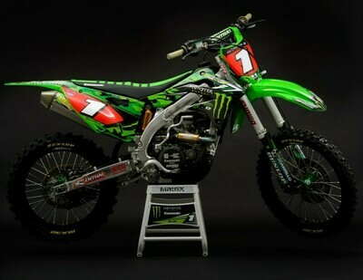 Ryan Villopoto Camo Monster Energy Replica Decal Kit